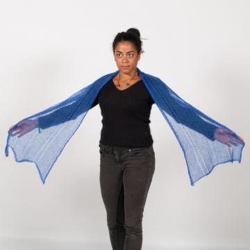 Écharpe mohair et soie tricotée