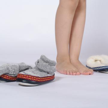 Chaussons en mohair et laine