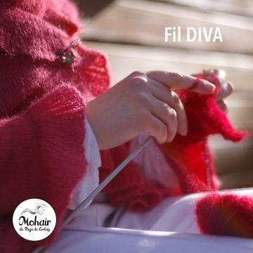 Création réalisée en fil DIVA