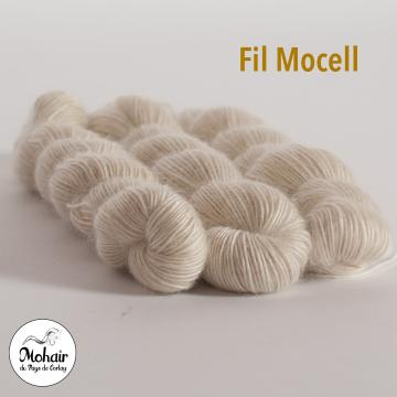 Echeveau kid mohair et algue filé en FRANCE