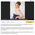 Ouest France Vendredi 23 octobre - Défilé mohair avec Miss Bretagne
