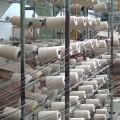plaids et couvertures, préparation du fil de chaine