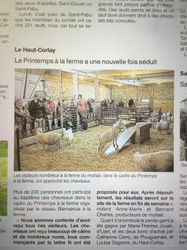 Ouest France 19 avril 2017