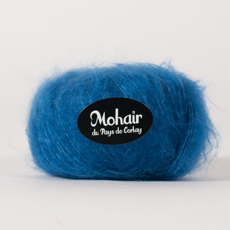 Pelote laine mohair et soie diva france - Couleur bleu paon ...