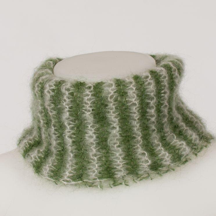 tricoter un snood en angora