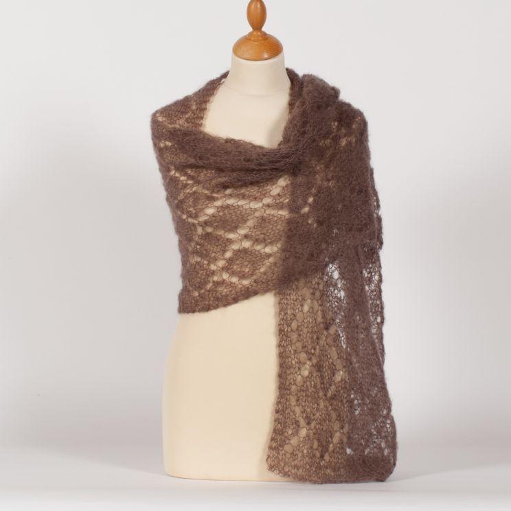 losanges ajourés au tricot